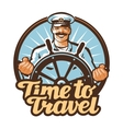 travel logo journey or sailor ship vector image vector image