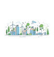 urban landscape with modern eco friendly vector image vector image