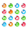 Medical healthcare icon stickers vector image