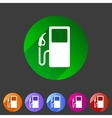 gas petrol fuel station icon flat web sign symbol vector image