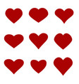 heart icon set vector image