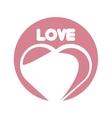 love heart romantic ornament vector image