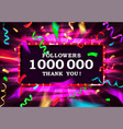 1000000 filers thanks gold frame vector image