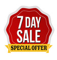 3 day sale label or sticker vector image vector image