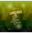 a merry christmas green triangular background vector image
