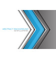 abstract blue grey silver line arrow direction vector image vector image