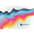 abstract modern colorful fluid line gradient vector image vector image
