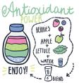 Antioxidant power hand drawn smoothie recip vector image