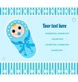 baby boy card 2 vector image vector image