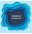 background with blue paper cut shapes 3d abstract vector image vector image