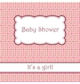 Background with greek pattern baby shower vector image vector image