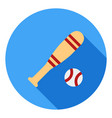 baseball sport icon baseball stick icon sports vector image