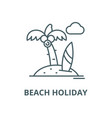 beach holiday line icon linear concept vector image