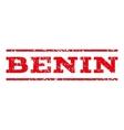 Benin Watermark Stamp vector image vector image
