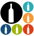 bottle of wine and a glass icon vector image vector image