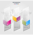 business infographics transparancy design elements vector image vector image