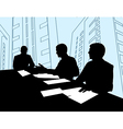 Businessmen Meeting Silhouette vector image vector image