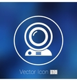 camera video icon web insight cam chat vector image vector image