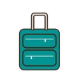 cartoon green suitcase travel equipment vector image vector image