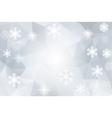Christmas abstract polygonal cosmic background vector image