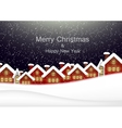 christmas card with urban landscape vector image