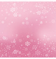 christmas winter red background vector image vector image