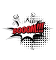 Comic text boom pop art bubble vector image vector image