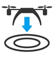 Copter Arrival Icon vector image vector image