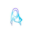 creative hijab blue color logo ideas inspiration