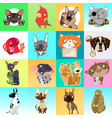 cute poster or greeting card with modern design vector image