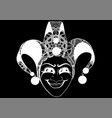decorated venetian carnival jester mask vector image vector image