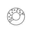 donut line icon sign on vector image vector image