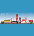 faisalabad pakistan city skyline with gray vector image vector image