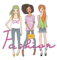 Fashion cute girls vector image vector image