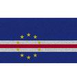 Flags Cape Verde on denim texture vector image
