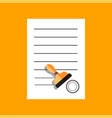 flat document icon concept vector image