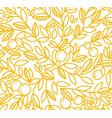 foliage tree pattern background orange or vector image vector image