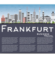 Frankfurt Skyline with Gray Buildings Blue Sky vector image vector image