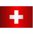 grunge flag of switzerland vector image vector image