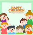 happy children boys and girls smiling vector image