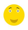 happy smiley face emoticon vector image vector image