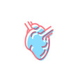 heart icon in modern colors on white vector image vector image