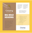 honey business company poster template with place vector image