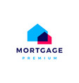 house mortgage overlapping color logo icon vector image vector image