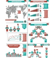 INFOGRAPHIC DEMOGRAPHIC RTERO LABBEL RED vector image vector image