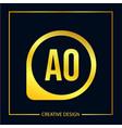 initial letter ao logo template design vector image