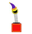 joke box with harlequin vector image vector image