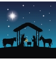Joseph maria and jesus icon Merry Christmas vector image vector image
