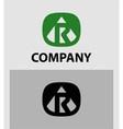 Letter R emblem symbol Creative corporate concept vector image