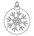 line art black and white christmas ball vector image